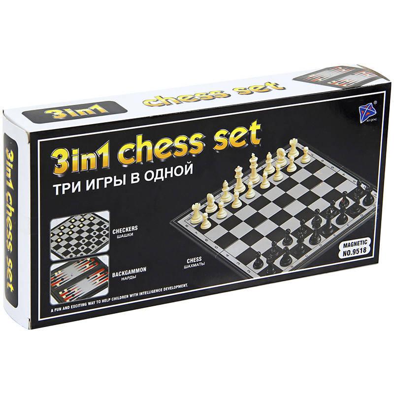 Игра Шахматы Нарды Шашки (3 в 1)