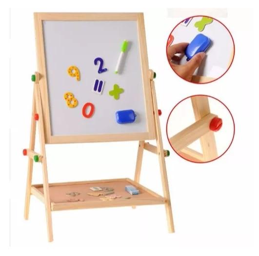 Доска для рисования деревянная 2 в 1