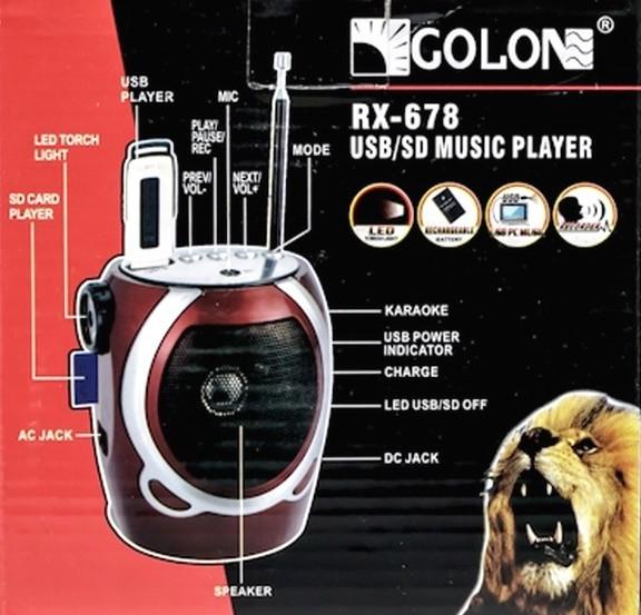 Радиоприемник Golon RX-678 USB/SD MP3 FM