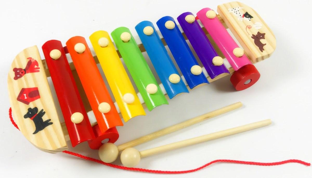 Ксилофон деревянный на колесика