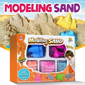 Кинетический песок с формочками