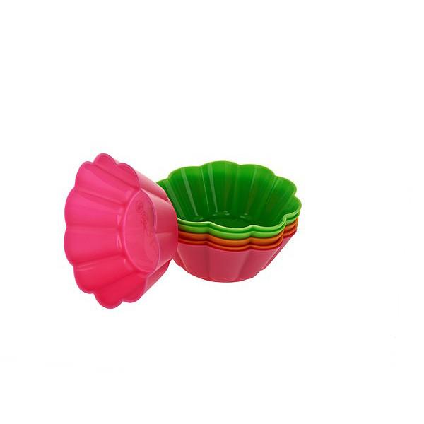 Набор силиконовых форм для кексов, 4 шт.