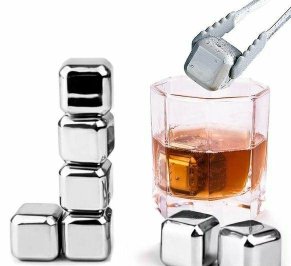 Стальные кубики для напитков