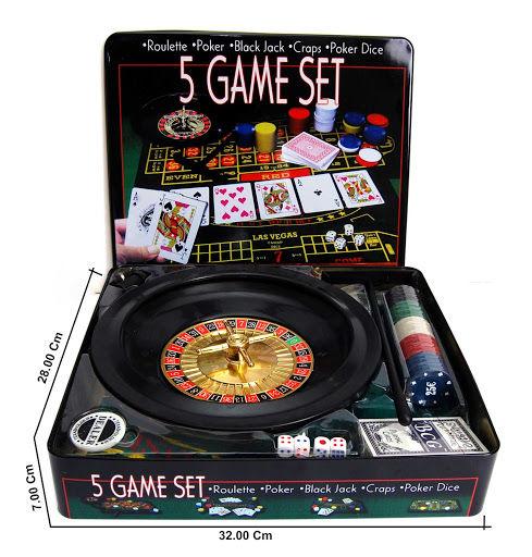 Игра 5 в 1 (Рулетка,покер,Блэк Джек,покер дайс,и Крепс)