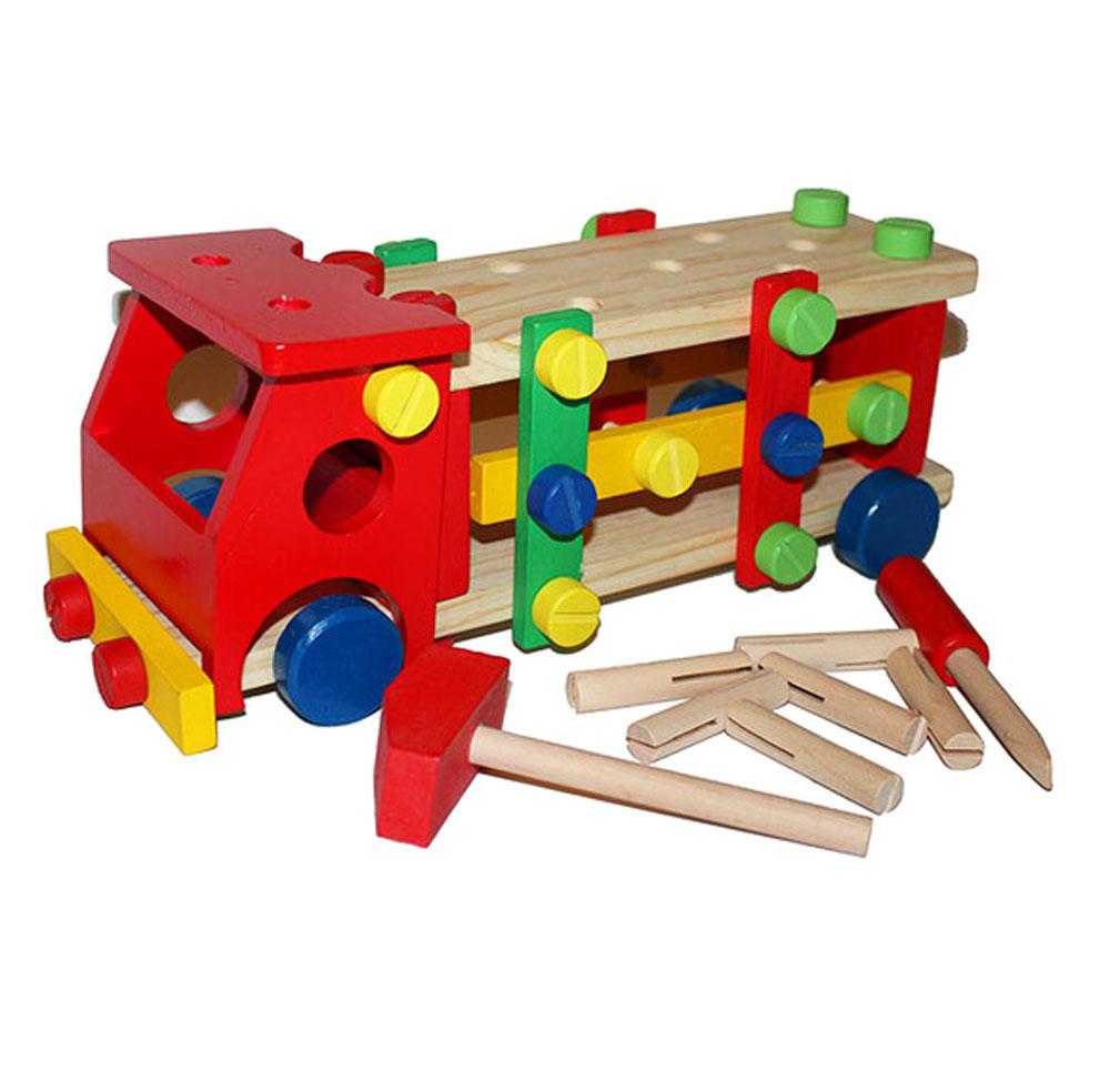 Деревянная машина-конструктор с инструментами