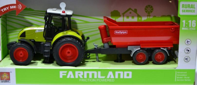 Трактор с прицепом Farmland