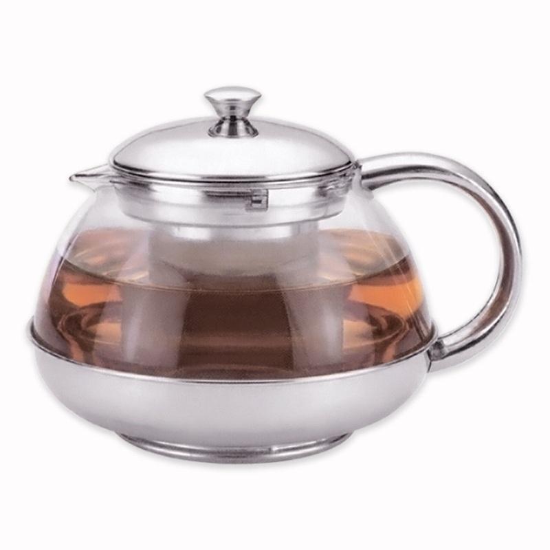 Чайник заварочный 600мл стеклянный с фильтром